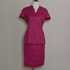 VTG Pia Rucci Pink Skirt Set sz. 8